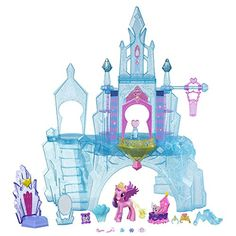 Imagine special times with Baby Flurry Heart and Princess Cadence in the Crystal Empire Castle! This glamorous My Little Pony Explore Equestria Crystal Empire Castle playset has a rotating light-up fe...