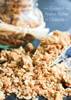 Zach and I didn't have a huge, extravagant honeymoon. We were told that he would be entering active duty into the Air Force exactly one week after we got married {Which they later told us Peanut Butter Granola, Coconut Peanut Butter, Yummy Snacks, Snack Recipes, Yummy Food, Breakfast Recipes, Vegetarian Recipes, Healthy Recipes, Pasta