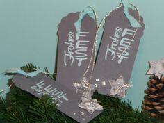 """♥♥♥ NovemberRemember ♥♥♥ 3 Geschenkanhänger von """"Schönes aus Stempel und Papier""""  auf DaWanda.com"""