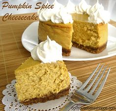 MINI PUMPKIN CHEESE CAKE WITH MAPLE SPICED WHIPPED CREAM