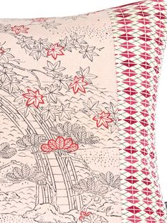 Luxury Decorative Pillow Cushion in a small line drawn