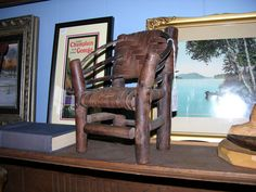 Vintage hickory-style Doll Chair. Black Bass Antiques, Lake George, Adirondacks
