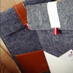 Wool Felt Genuine Leather iPad 2/3 Sleeve - @kutissg- #webstagram