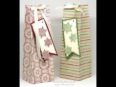 Extra Huge Christmas Box using Stampin' Up! This Christmas Speciality Paper - YouTube