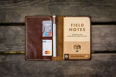 No.33 Personalized Leather Field Notes Cover, Field Notes Wallet, Brown