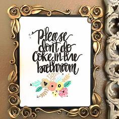Funny bathroom decor set / funny bathroom by CalligAllTheThings