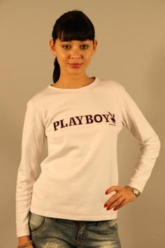T-Shirt Donna Play Boy (BO-D006 PLAY BOY) colore Bianco