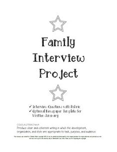Biography Informative Writing Project  Sample Interview Questions
