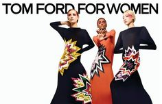 Tom Ford Fall 2013: Joo Park, Gemma Refoufi, Herieth Paul, and Zuzanna Bijoch photographed by Tom Ford.