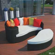 Outdoor Wicker Patio Daybed With Ottoman #furniture_design | Patio Furniture  | Pinterest | Daybed, Ottomans And Daybed Sets