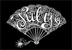 J U L Y   |                       Via Inkymole Illustration aka Sarah J Coleman, Royaume-Uni / U.K.