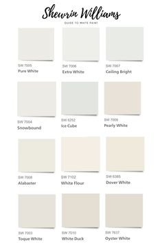 Sherwin Williams Guide to White Paint Colors The Complete Step- by- Step Guide to Choosing White Paint + the Best Sherwin Williams White Paint Colors in 2020 Wall Paint Colors, Exterior Paint Colors, Paint Colors For Home, House Colors, Off White Paint Colors, Exterior Design, Neutral Wall Paint, Best Greige Paint Color, Beach Paint Colors