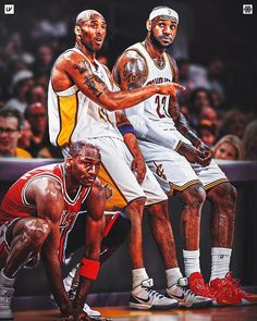 Kobe Bryant Lebron James, Kobe Bryant Michael Jordan, King Lebron James, Michael Jordan Basketball, Kobe Bryant 24, King James, Basketball Art, Basketball Legends, Basketball Players