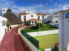 Tennis Court at Casa Turquesa, Cancun Mexico.