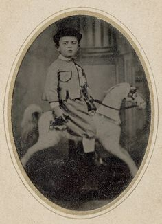 Tintype of a Boy on a Rocking Horse | Flickr - Photo Sharing!