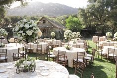 Beautiful reception setup at the Stone House. Photo by L Parker Photography