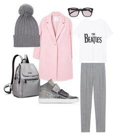 """pink coat outfit"" by explorer-14869926922 on Polyvore featuring мода, MANGO, Étoile Isabel Marant, MM6 Maison Margiela, Balmain и The Elder Statesman"