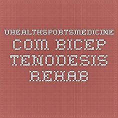 uhealthsportsmedicine.com bicep tenodesis rehab