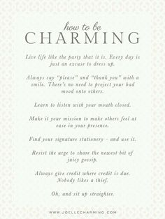 Good reminders