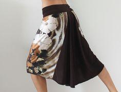 Falda de raso de tango Milonga jersey ropa para por CrinolinAtelier
