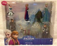 Disney Frozen Figure Set / Cake Toppers- Elsa, Anna, Hans, Kristoff, Olaf, Sven