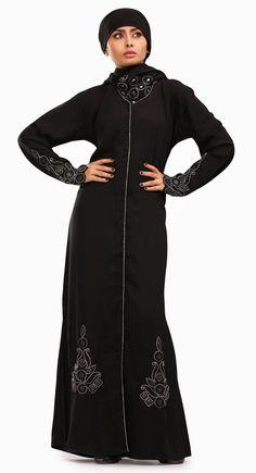 Trendy Black Color Designer #Abaya
