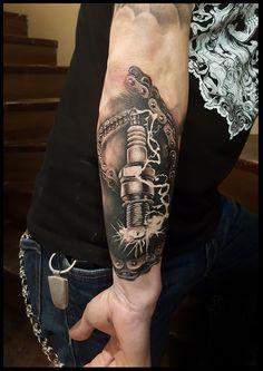 Black and grey tattoo. Dead Pony Tattoo - Tattoos and piercings - Best Tattoo Ideas Tribal Arm Tattoos, Leg Tattoos, Body Art Tattoos, Tattoos For Guys, Sleeve Tattoos, Harley Tattoos, Biker Tattoos, Badass Tattoos, Racing Tattoos