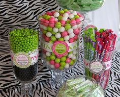 Add some lime green to the mix?!  Gives more snack food options + matches the invite!