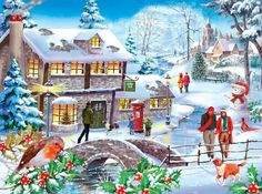 The House Of Puzzles - 500 PIECE JIGSAW PUZZLE - Winter Walk Unusual Pieces in Toys & Games, Jigsaws & Puzzles, Jigsaws | eBay
