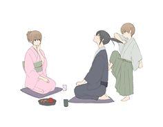 hijikata , mitsuba , Okita