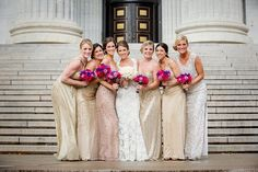 20 Bridal Parties Who Flawlessly Executed The Mismatched Dress Trend