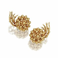 PAIR OF 18 KARAT GOLD 'COMET' EARCLIPS, SCHLUMBERGER FOR TIFFANY & CO.,  CIRCA 1957