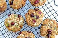 Healthy Muesli Breakfast Cookies - The Fit Foodie. Exclude cranberries for fructose free!