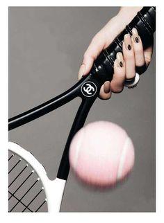 Cool!!! A Chanel tennis racket!!!!?