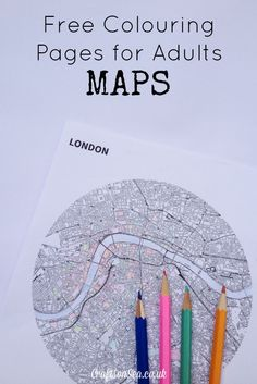 Free Colouring Pages for Adults: Maps - Crafts on Sea