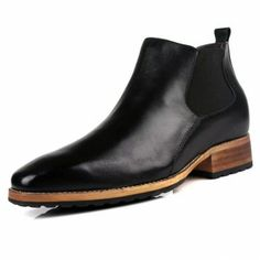 British men height increasing tooling boots taller 8cm / 3.15inches wedding boots for groom