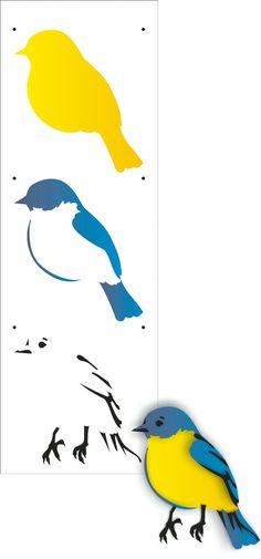 10x30 Simples - Pássaro IV - OPA2160