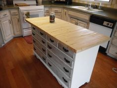 Exceptional Love The Idea Of A Kitchen Island Made Out Of A Dresser.