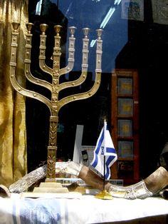 MENORAH, TALIT, SHOFAR Y BANDERA DE ISRAEL
