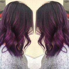 Purple balayage.
