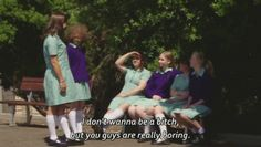 Chris Lilley is bringing back popular Summer Heights High character Ja'mie King back for a new comedy Ja'mie: Private School Girl. Tv Show Quotes, Movie Quotes, Funny Quotes, Funny Memes, Summer Heights High, Chris Lilley, Private School Girl, Jamie King, Comedy Tv