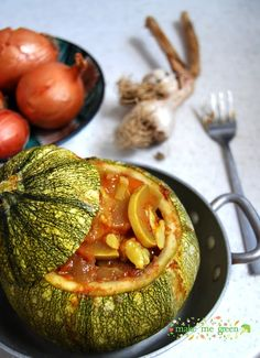 courgette farcie aux légumes #vegan