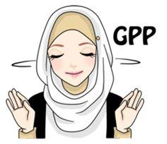 Buat chat kamu lebih asyik dengan Hijab Gaul Stiker :D Love Cartoon Couple, Cute Love Cartoons, Emoji People, Anime Muslim, Muslim Hijab, Hijab Drawing, Eid Greetings, Islamic Cartoon, Hijab Cartoon
