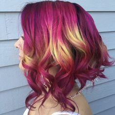 20 Unboring Styles with Magenta Hair Color - Hair - Hair Magenta Hair Colors, Red Hair Color, Cool Hair Color, Fashion Hair Color, Blond Rose, Pelo Multicolor, Beautiful Hair Color, Coloured Hair, Bright Hair