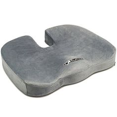 Aylio Coccyx Orthopedic Comfort Foam Seat Cushion for Lower Back, Tailbone and Sciatica Pain Relief (Gray) Middle Back Pain, Upper Back Pain, Sciatica Pain Relief, Back Pain Relief, Exercise At Your Desk, Home Office, Lower Back Pain Exercises, Road Trip Packing List, Back Pain Remedies