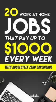 Searching for legit work at home jobs that pay weekly. Here is the list of 23 legitimate jobs that pay you every week for the work you do. Make Money Fast Online, Make Money Today, Make Money From Home, Way To Make Money, Start A Business From Home, Work From Home Jobs, Online Business, Mo Money, Money Tips