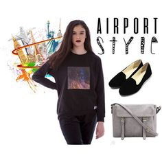 NEW! POLYVORE - AIRPORT CHIC! Art inspired sweater available online in our store OR at our June #POPUP event! #fashion #style #popupshop #newyork #fashionblogger #beauty