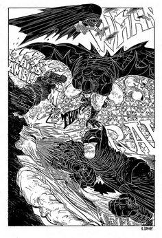 DC COMICS - Batman Black and White by R. Grampá, via Flickr
