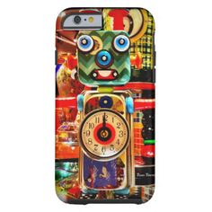 Robot Clock Recycled Art iPhone 6 case Check out this cool Upcycle Robot Clock Design made from variety of tin and metal. The IMAGE of the clock is designed onto to a flexible plastic iPhone 6 case. You are buying the iPhone 6 case with an image of the clock, NOT the clock itself. This original piece of art which I photographed was made by Boss Brown Art. #monster #robot #cool #unique #metal #artwork #creatures #colorful #vibrant #upcycle #robot #clock #iphone #robot #clock #monster #robot