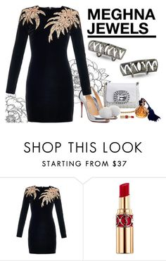 """MEGHNA JEWELS-Claw collection"" by gabyidc ❤ liked on Polyvore featuring Dolce&Gabbana, Christian Louboutin, Balmain and Yves Saint Laurent"